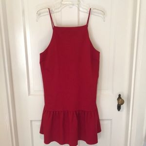 Red ASOS dress